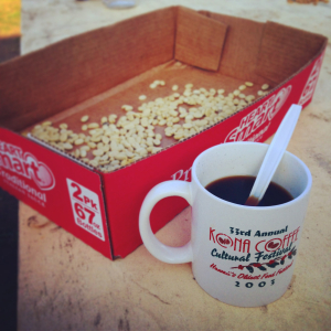 Čerstvá havajská káva